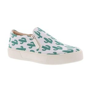 Volatile • Cactus Pattern Slip On Sneakers